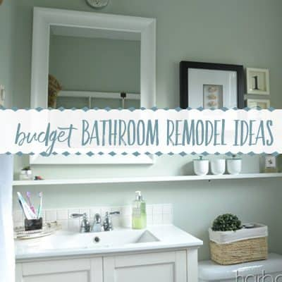 Farmhouse Style Budget Bathroom Remodel | Before and After