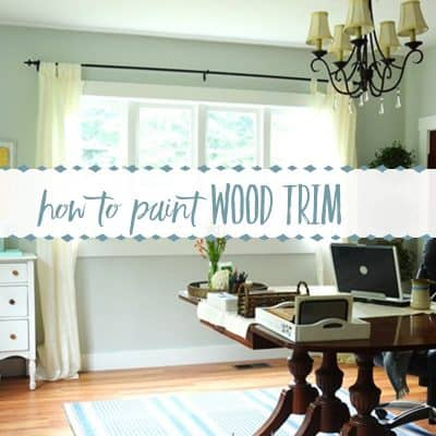 How to Paint Old Stained Wood Trim