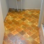 New Floor in my Powder Room!