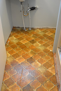New Floor in my Powder Room!