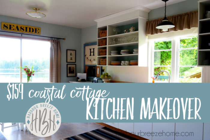 159 kitchen makeover at harbour breeze home - See how some creative DIY projects, paint, and a few small building projects completely transformed this space.