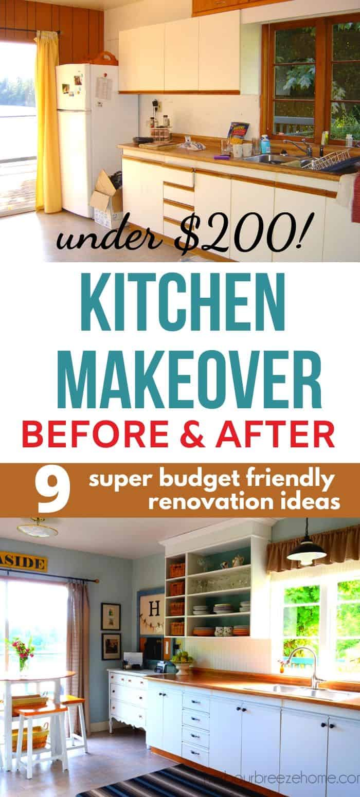 Kitchen Remodel Before After For Under 200 Harbour Breeze Home