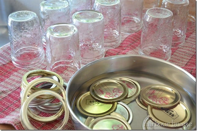 Canning Jam supplies include jars, lids, and rings