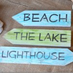 Picket Beach Signs {Day 11}