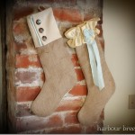Burlap Christmas Stockings {Day 17}