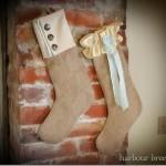 Burlap Christmas Stockings {Day 17}