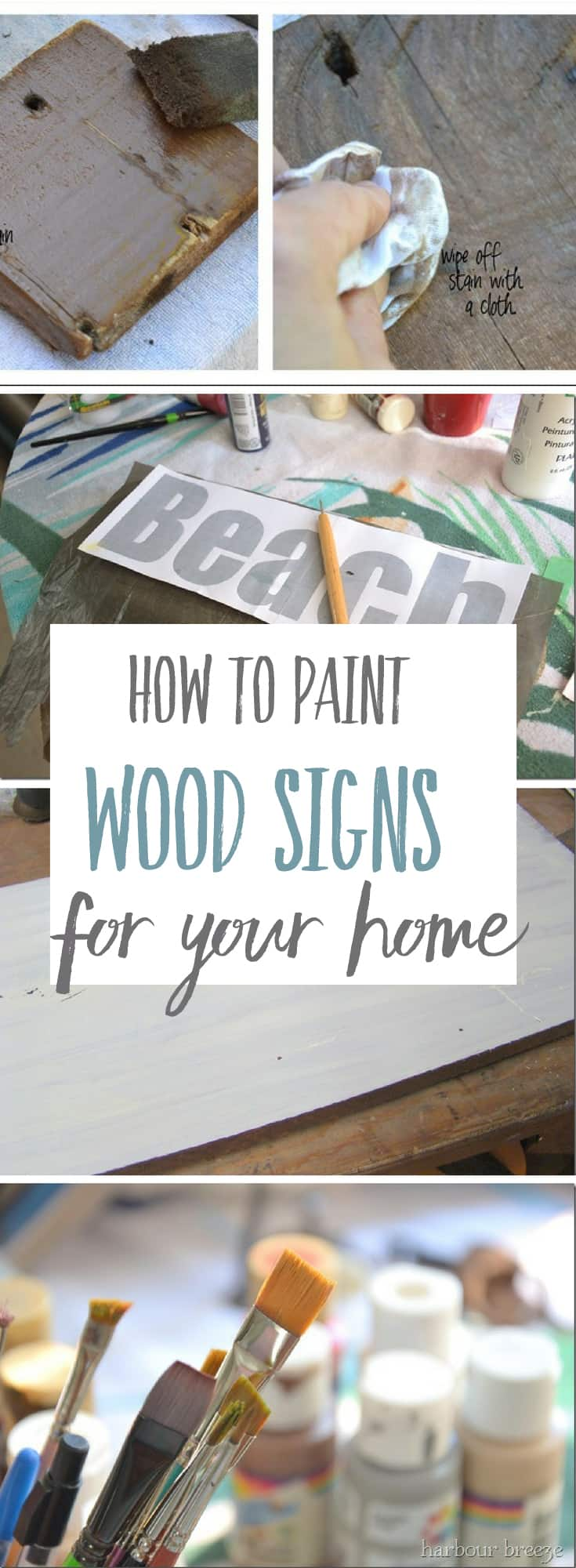 Decorative Painting On Wood Signs Harbour Breeze Home