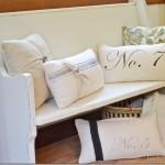 Flour Sack Pillows~ {Day 20}