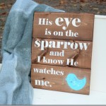 Painting Day ~ Sparrow Sign