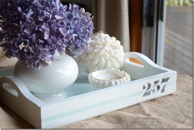 painted wooden tray makeover