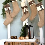 Burlap and Flannel Christmas Stockings
