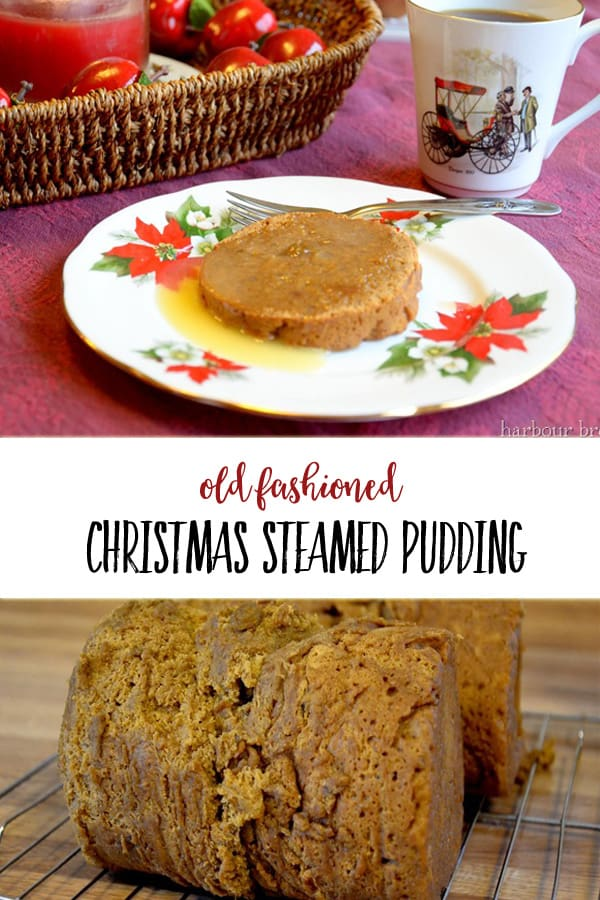 Old Fashioned Steamed Pudding Recipe| This Christmas recipe has been passed down from generation to generation. Served with a rich vanilla sauce, it is a decadent dessert for Christmas dinner. #christmas #christmasrecipes #recipes