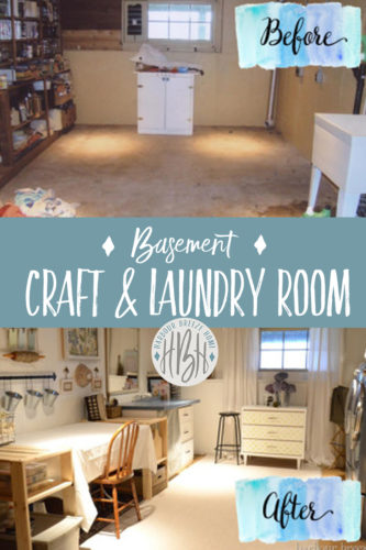basement craft & laundry room makeover reveal