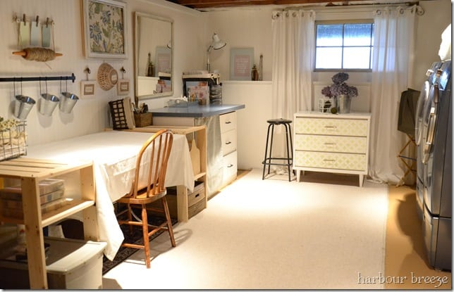 Basement Craft Amp Laundry Room Reveal Harbour Breeze Home