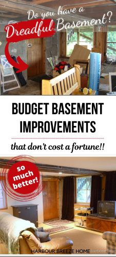 Old Basement Family Room Makeover Ideas on a budget