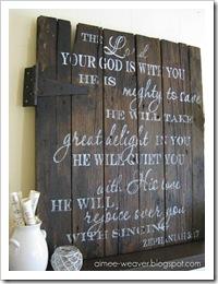 barn door sign