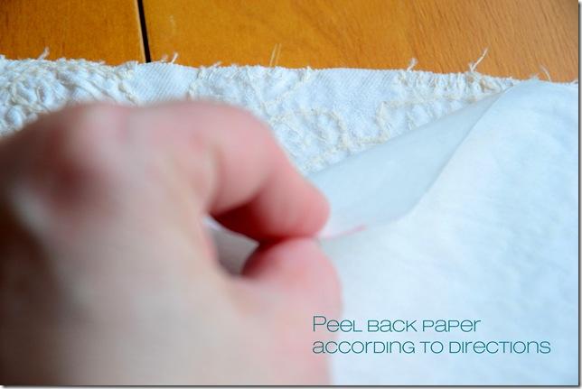 peel back paper
