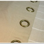 Turn a Grommet Curtain Into a Pillow