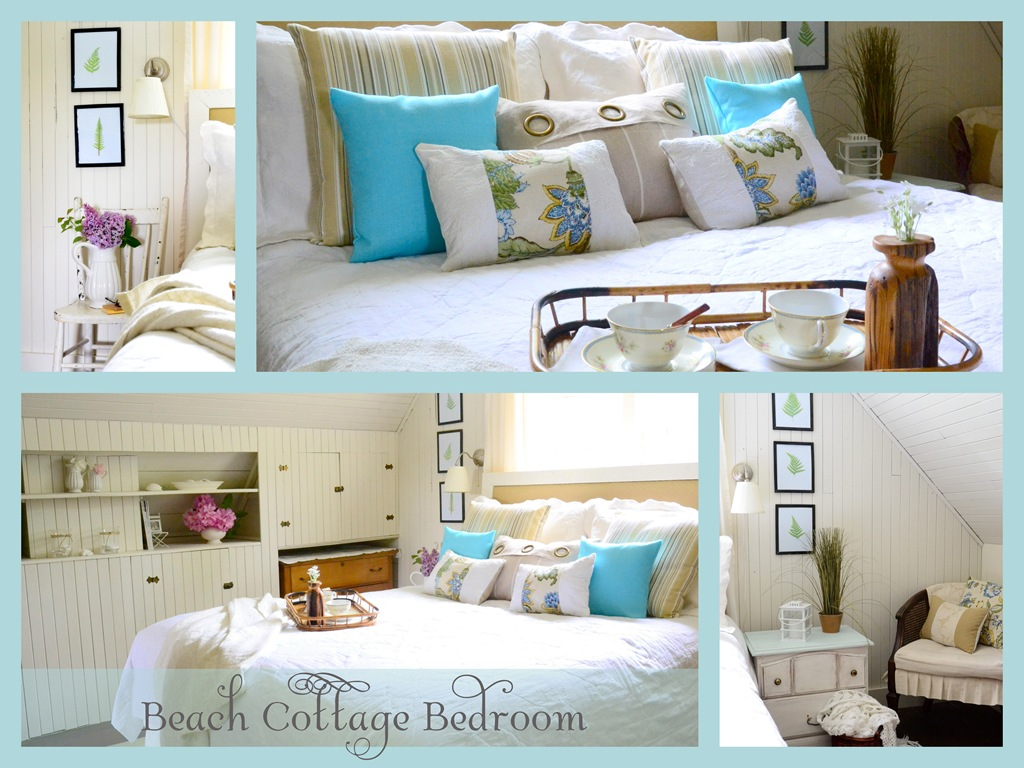 Beach cottage bedroom reveal harbour breeze home Blue beach bedroom ideas