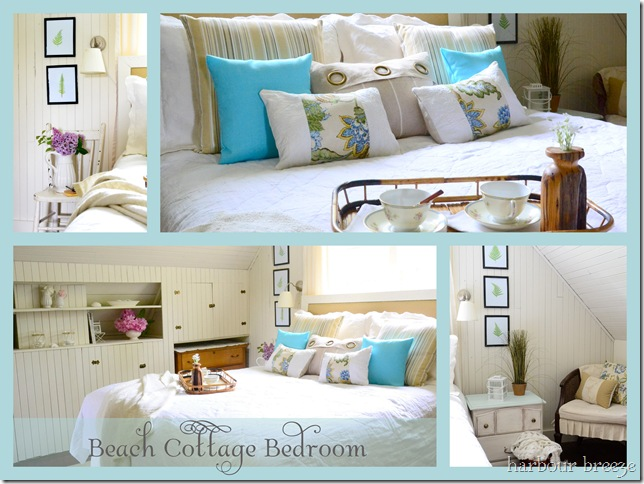 beach cottage bedroom labeled