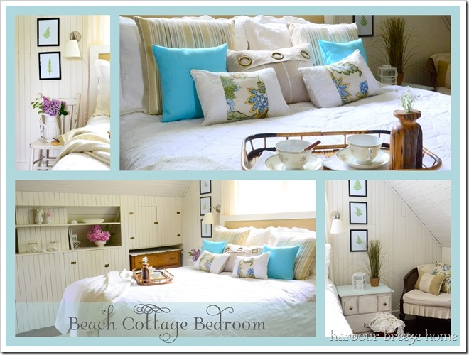 beach cottage bedroom makeover at harbourbreezehome.com