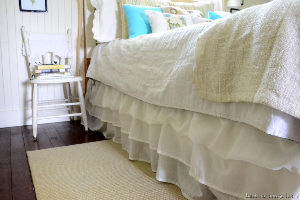 No Sew Ruffled Bedskirt From 2 Ikea Sheets At Harbourbreezehome
