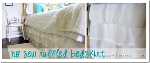 ruffled bedskirt slide
