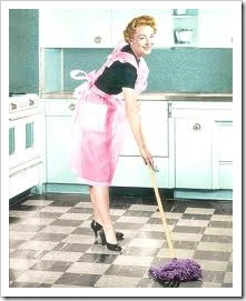 vintage cleaning lady
