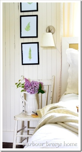 bedside table vignette