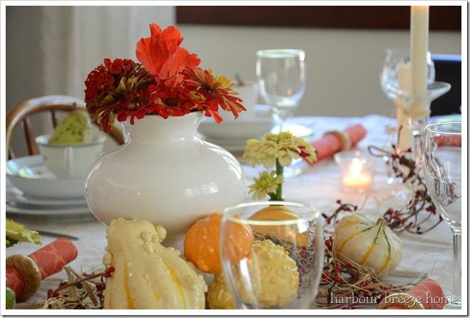 bouquet of zinnas