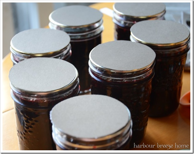 cardstock on lids
