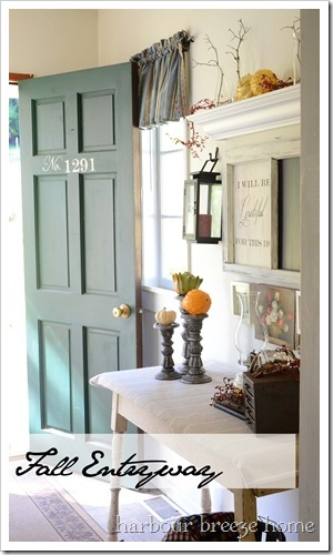 fall entryway door