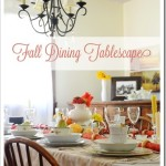 Fall Dining Tablescape {with china}