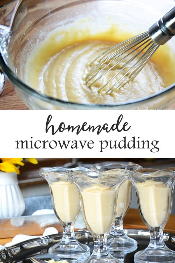 Homemade Pudding | This old-fashioned homemade pudding recipe uses fresh ingredients like eggs, milk, flour, & sugar and can be made in the microwave! A few additions can quickly make it chocolate, butterscotch, or vanilla! It's quick and delicious. #recipes #recipeseasy #microwaverecipes