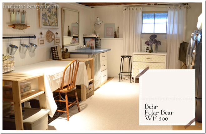 behr polar bear craft room