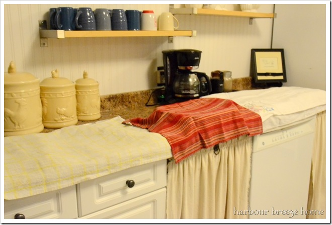 cover with towels