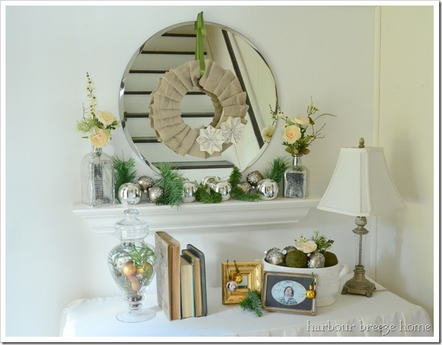 Christmas Entryway table