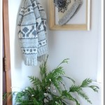 Silver, White, and Sparkly Christmas Entryway
