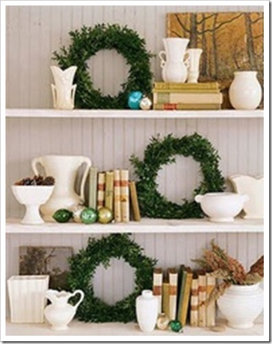 christmas bookcase