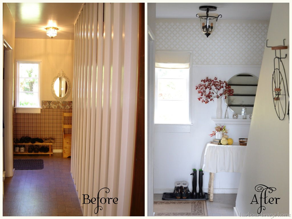 Entryway Before And After Harbour Breeze Home