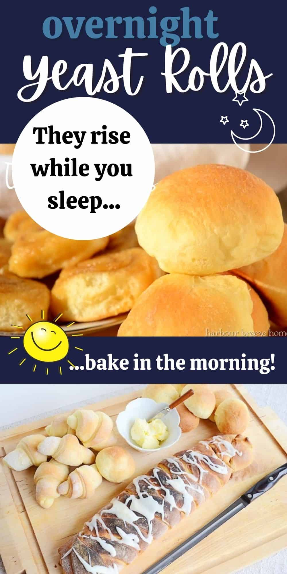 Overnight yeast rolls you can bake fresh in the morning.