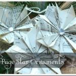 DIY Book Page Star Ornaments