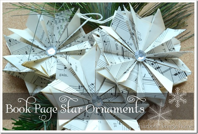 3 ornaments with words