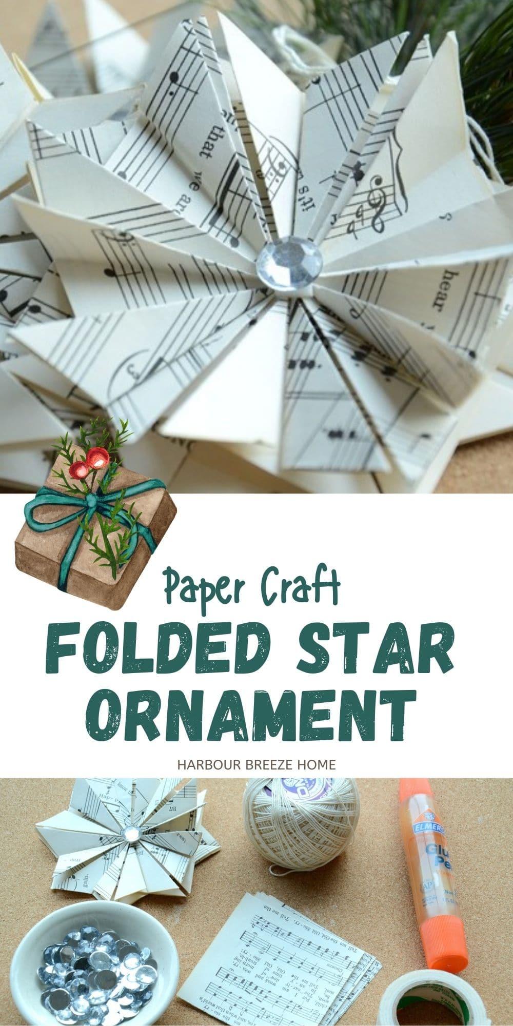 folded paper star ornament