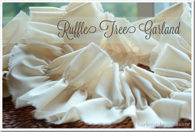 Ruffle Garland with words