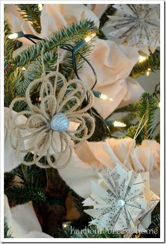 jute flower ornament