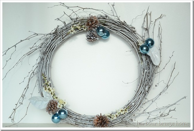 silver wreath after