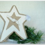 Flour Sack and Burlap Tree Topper