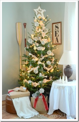 white and natural Christmas tree