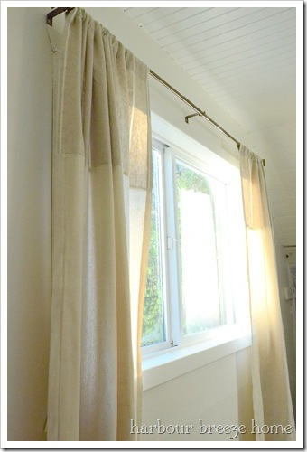 side of curtains